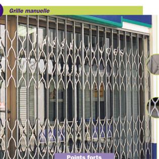 Grille extensible Marseille 4e. Vues grille fermée et grille ouverte