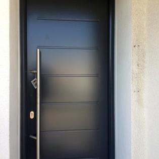Porte d'entrée Thermopro Hörmann gris anthracite avec bâton de maréchal, Marseille 13010