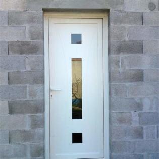Porte d'entrée aluminium 5 points de fermeture