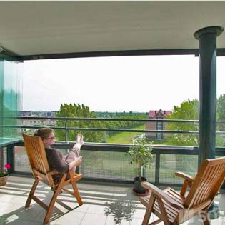 Vitrage de balcon transparent SL 25 - Aluminium, sans isolation - Solarlux