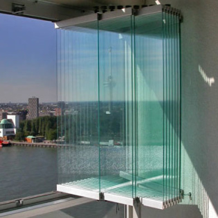 Vitrage de balcon transparent SL25 - Aluminium, sans isolation - Solarlux