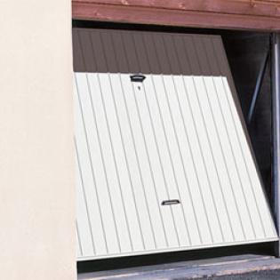 Porte de garage basculante non débordante métal, bois ou PVC - modèle DL-IL Novoferm
