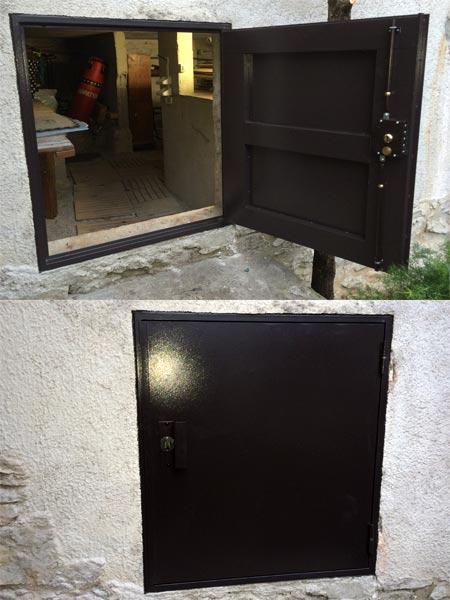 porte acier cave600 fermelec. Black Bedroom Furniture Sets. Home Design Ideas