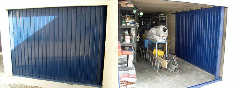 porte coulissante en acier galvanis refoulement latral idal linteau rduit peinture poxy ralisation marseille 10me porte de garage